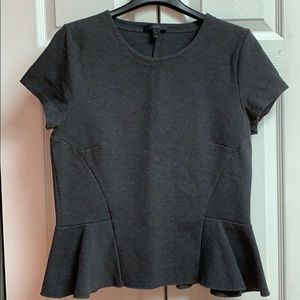 JCrew seamed peplum t-shirt